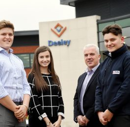 Pictured (left to right): Charlie Stevens, Katie-May Cashmore, Martin Gallagher, Matt Byrne